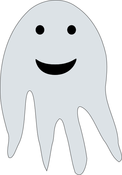 Cartoon Ghost Clip Art at Clker.com - vector clip art ...