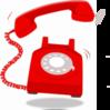 Ringing Red Telephone Clip Art