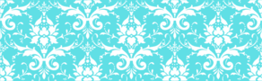 Tiffany Blue White Damask Clip Art