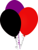 Purple Black And Red Balloons Clip Art
