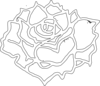 Rose In Full Bloom Clip Art