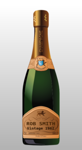 Rob Smith Champagne Bottle Clip Art