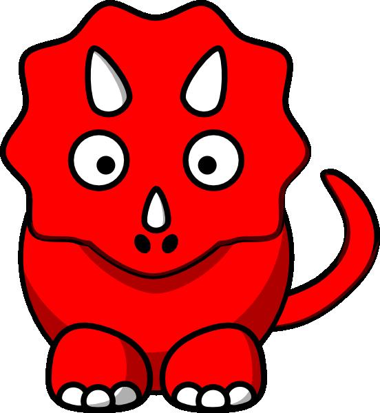 Red Dino Clip Art at Clker.com - vector clip art online, royalty free ...
