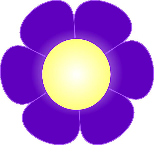 Purple Cartoon Flower Clipart Purple Daisy Flower, C...