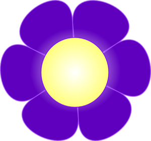 Purple Daisy Flower,  Clip Art
