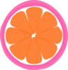 Tangerine Sections In Pink Clip Art