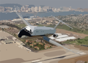 A C-9b Skytrain Ii From The Conquistadors Of Fleet Logistics Squadron Fifty Seven (vr-57) Flies Over Its Homebase Of Nas North Island Clip Art