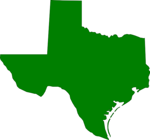 Green Texas State Clip Art