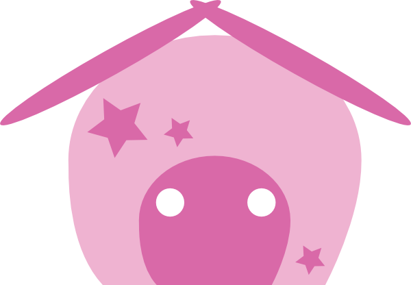 cartoon house outline. Cartoon House Pink clip art