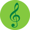 Music Pin Green Clip Art