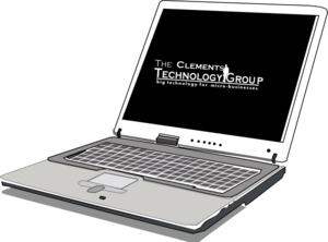 Clements Technology Laptop Clip Art