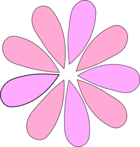 Pink Flower Yellow Center Clip Art