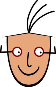 Human Man Face Cartoo Clip Art