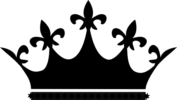 King Crown Clip Art Bl...