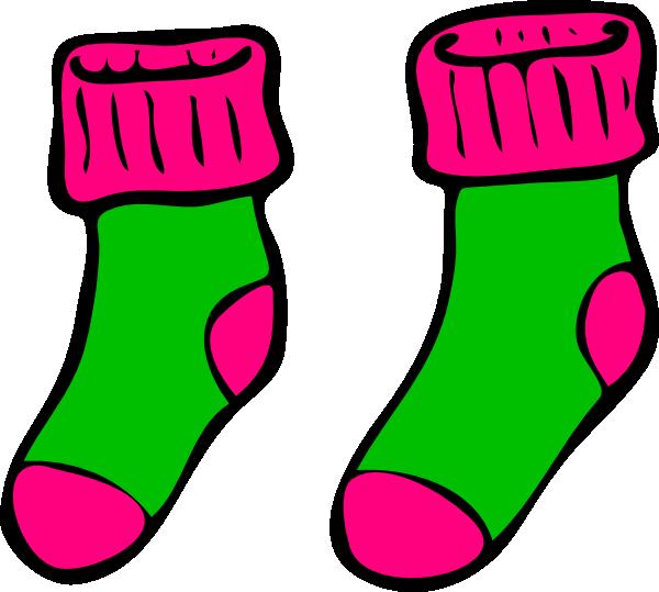 green pink sock clip art at clker com vector clip art online rh clker com shock clipart sock clip art black and white