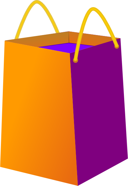 Tri Clor Shopping Bag Clip Art at Clker.com - vector clip art ...