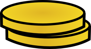 Two Gold Coins Clip Art