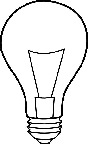 Line Drawing Light Bulb : Light bulb outline clip art at clker vector