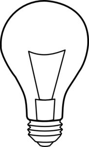 Light Bulb Outline Clip Art