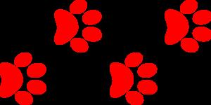 red paw print border clip art at clker com vector clip art online rh clker com free clipart dog paw print border paw print page border clipart