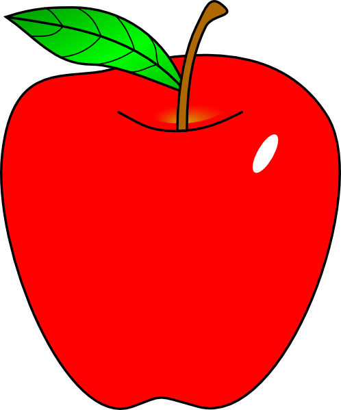 red apple clip art at clker com vector clip art online royalty rh clker com clip art of appleseed clip art of apple pie