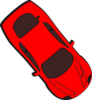 Red Car - Top View - 310 Clip Art