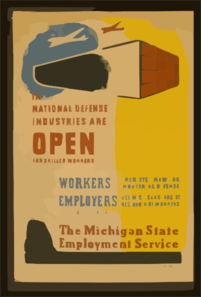 In National Defense Industries Are Open For Skilled Workers Workers - Register Now For Industrial Defense : Employers - Use Michigan S Largest Reservoir Of Workers : The Michigan State Employment Service. Clip Art