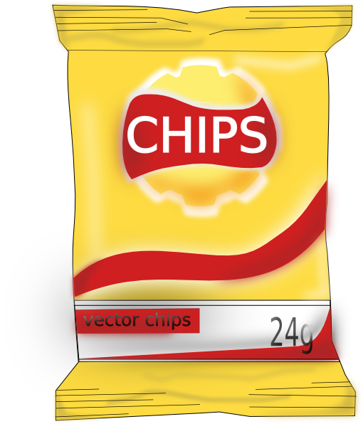 Bag Of Chips Clip Art at Clker.com - vector clip art ...