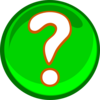 A Green Question Mark Clip Art