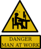 Danger Man At Work Clip Art