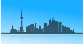 Shangai City Skyline Clip Art