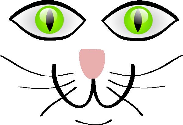 Cat Face Features Clip Art at Clker.com - vector clip art ...