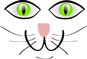 Cat Face Features Clip Art