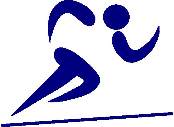blue runner clip art at clker com vector clip art online royalty rh clker com runner clip art silhouette free clipart runner