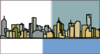 Melbourne-skyline Colour Clip Art