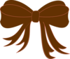 Brown And Pink Ribbon Clip Art