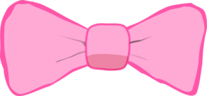 Pink On Pink Bow Clip Art