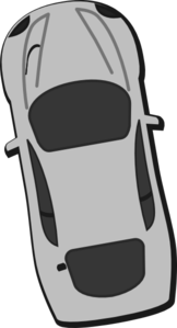 Gray Car - Top View - 100 Clip Art