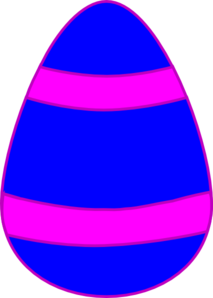 Blue And Pink Egg Clip Art