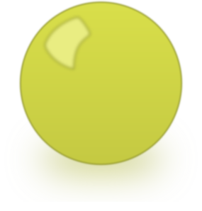 Yellow Snooker Ball Clip Art