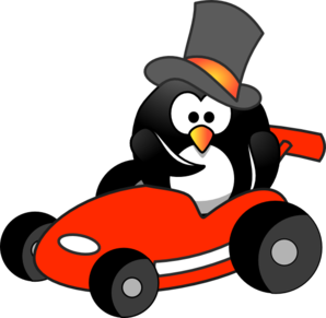 O G Penguin Penguin In Sportscar C...