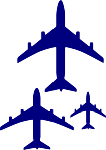 Flying Blue Airplanes Clip Art