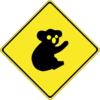 Warning Koalas Ahead Clip Art