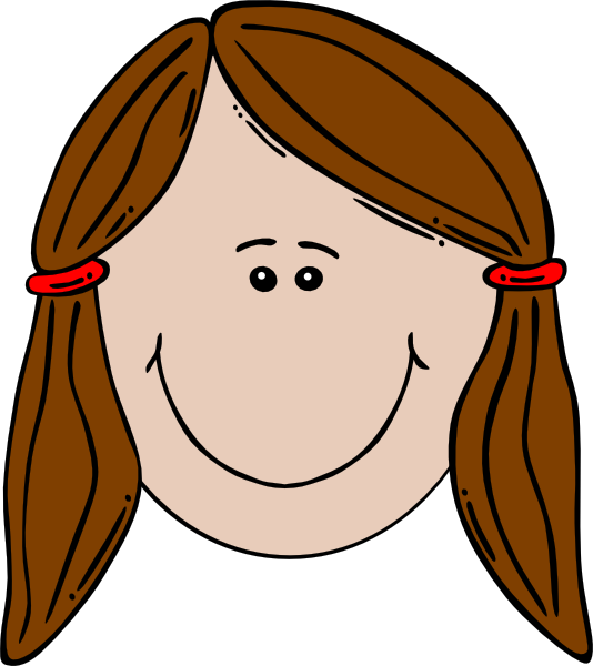 clipart little girl face - photo #24