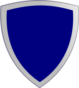 Plain Blue Shield 2 Clip Art