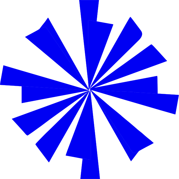 Blue Starburst Clip Art at Clker.com - vector clip art ...