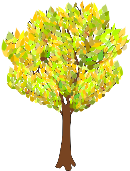 clip art of tree with falling leaves - photo #8