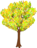 Tree With Fall Leaves Clip Art