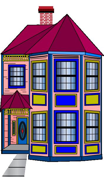 Colorful Townhome Clip Art At Clker Com Vector Clip Art