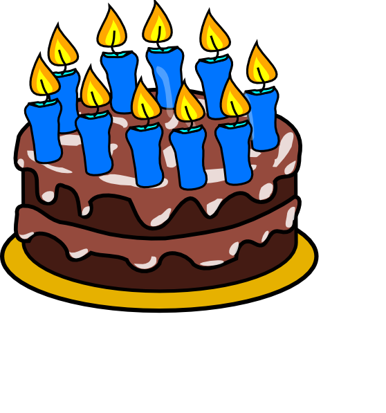Clip Art Images Of Birthday Cake : 10th Birthday Cake Clip Art at Clker.com - vector clip art ...